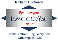 Johnson, Richard - Best Lawyers Lawyer of the Year (2012)